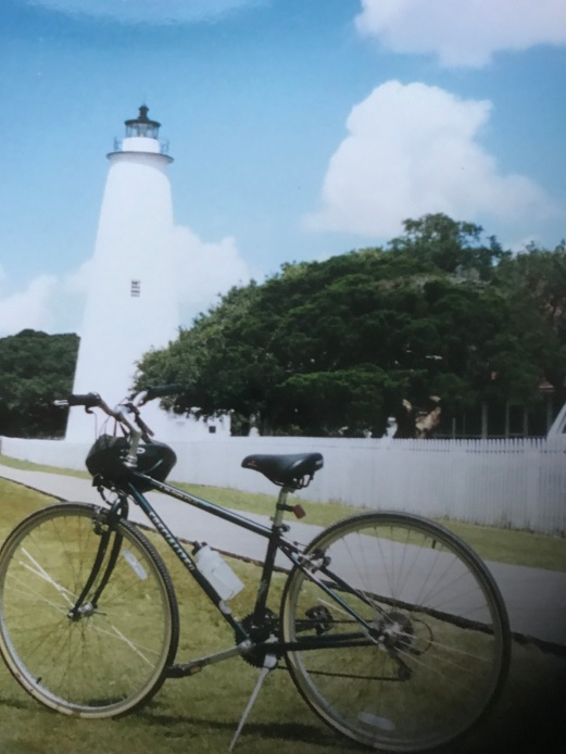 The bike and the lighthouse.